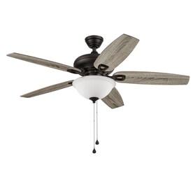 Harbor Breeze Coastal Creek 52-in Bronze LED Indoor Ceiling Fan (5-Blade)