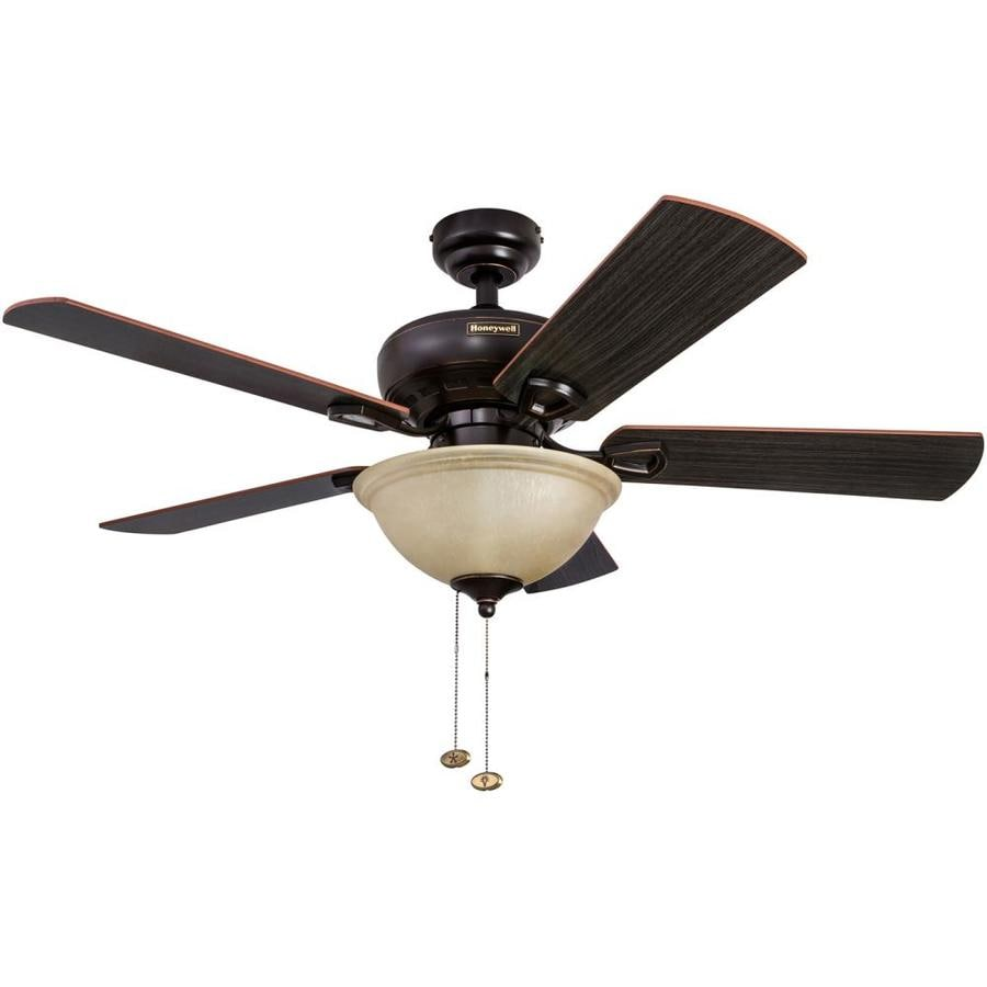 Honeywell Woodcrest 44-in Indoor Downrod Ceiling Fan With