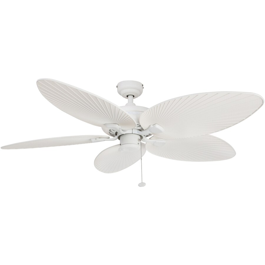 Lowes Tropical Outdoor Ceiling Fan: Shop Honeywell Palm Island 52-in White Indoor/Outdoor