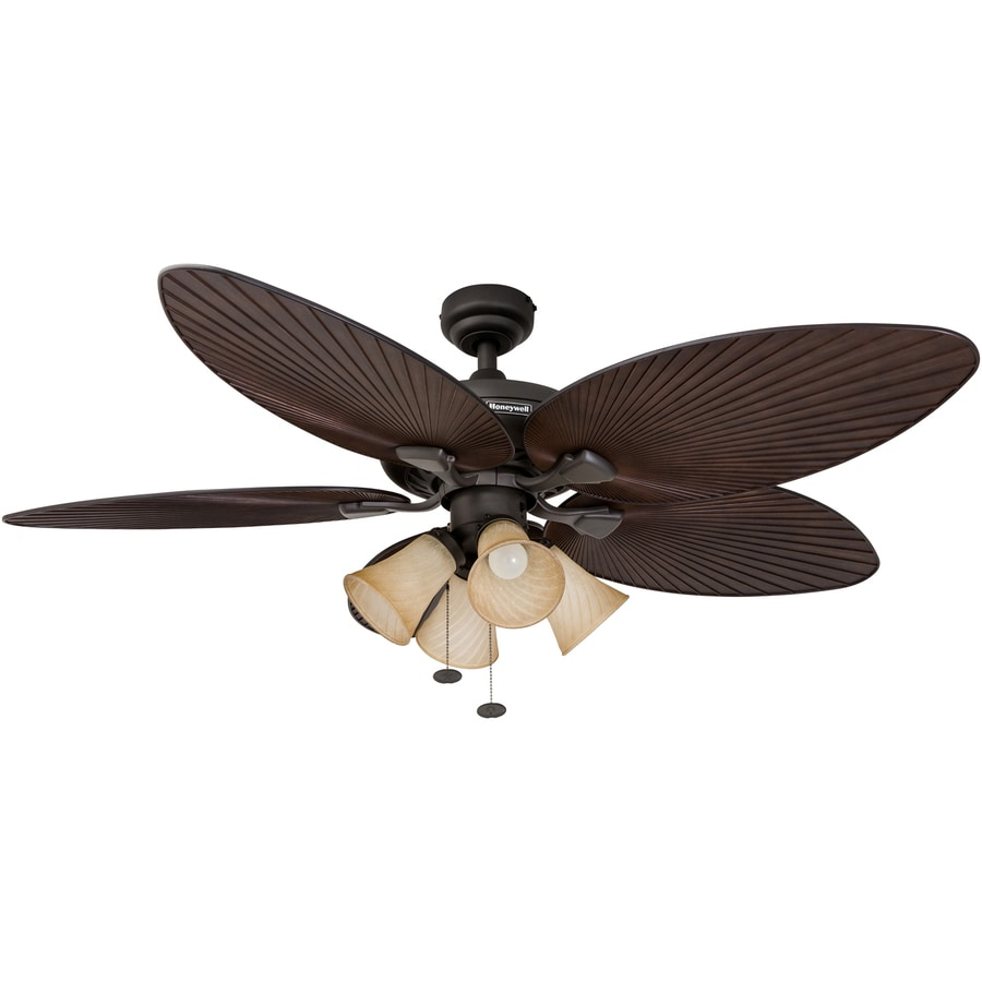 Honeywell Palm Island Oil Rubbed Bronze 52 In Indoor Outdoor Ceiling Fan 5 Blade In The Ceiling Fans Department At Lowes Com