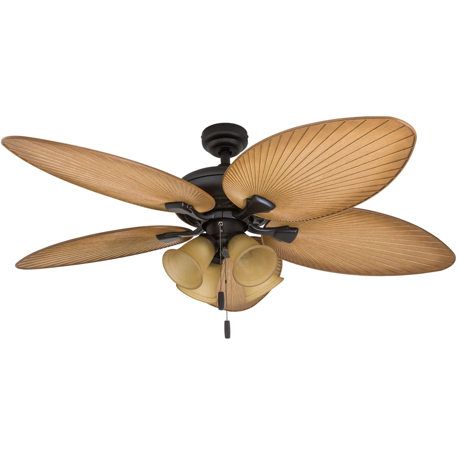 Ceiling Fan Light Kit Fan Tropical Outdoor Fans With: Shop Honeywell Palm Valley 52-in Bronze LED Indoor Ceiling