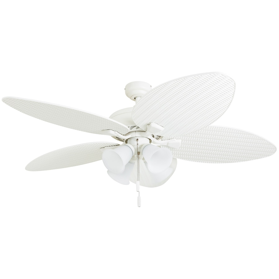 Honeywell Palm Valley 52 In White Led Indoor Ceiling Fan