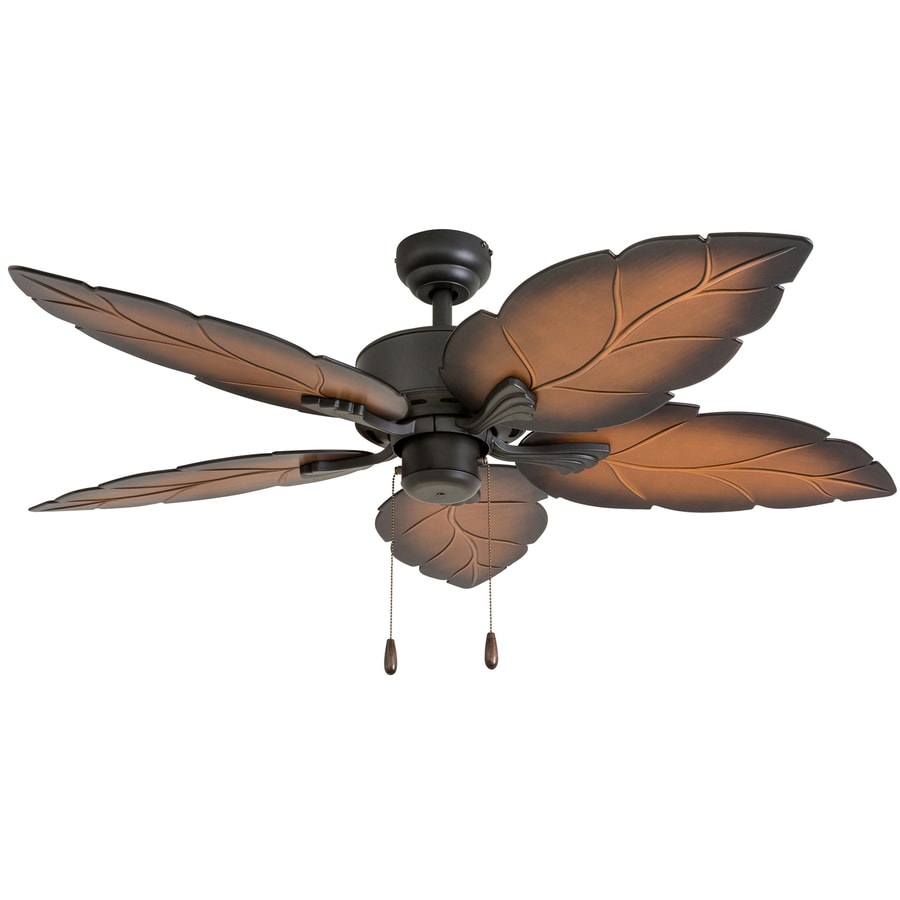 Tropical Ceiling Fan Tropical Fans With Lights Tropical: Palm Coast Bonterra 52-in Tropical Bronze Indoor Ceiling