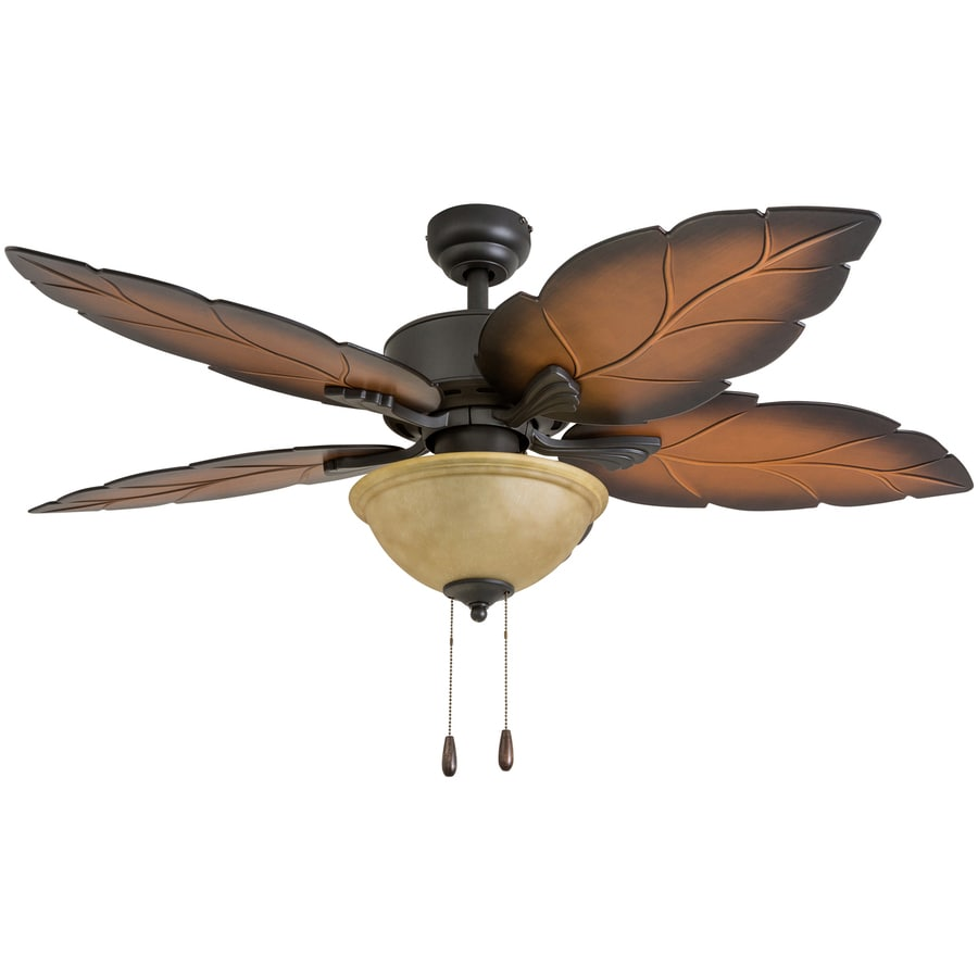 Ceiling Fan Light Kit Fan Tropical Outdoor Fans With: Palm Coast Florida Keys 52-in Tropical Bronze Indoor