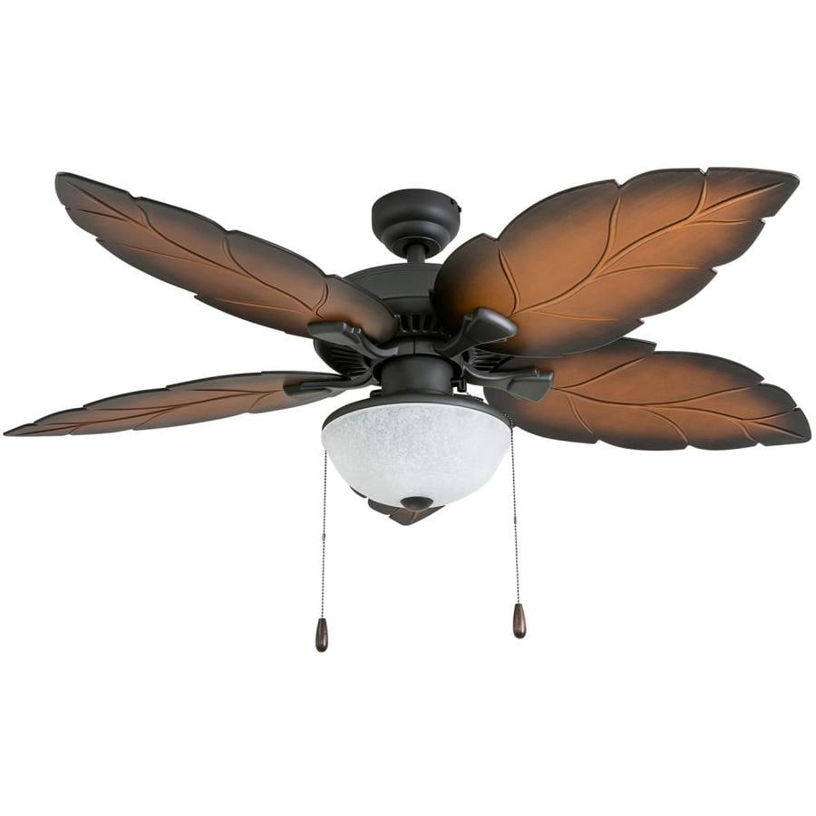 Ceiling Fan Light Kit Fan Tropical Outdoor Fans With: Palm Coast Bora-Bora 52-in Tropical Bronze Indoor/Outdoor