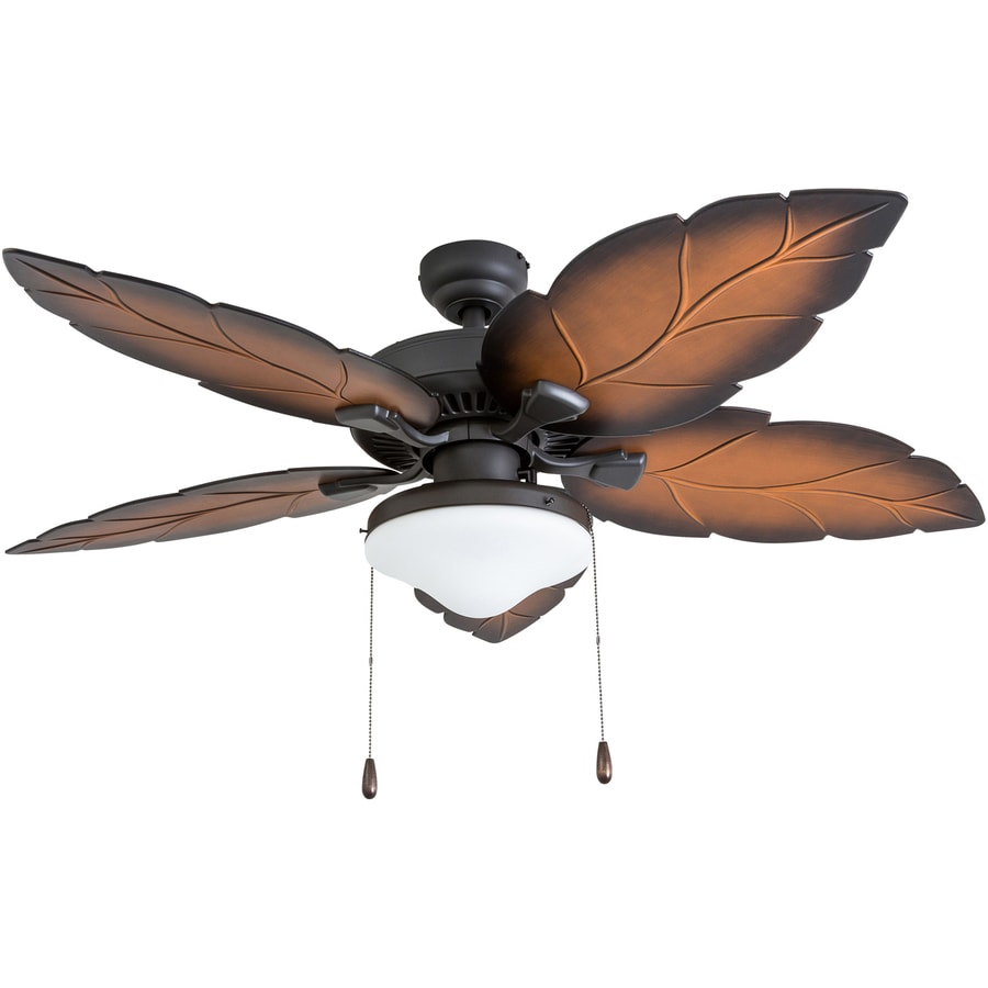 Tropical Outdoor Ceiling Fan: Shop Palm Coast St. Josephine 52-in Tropical Bronze
