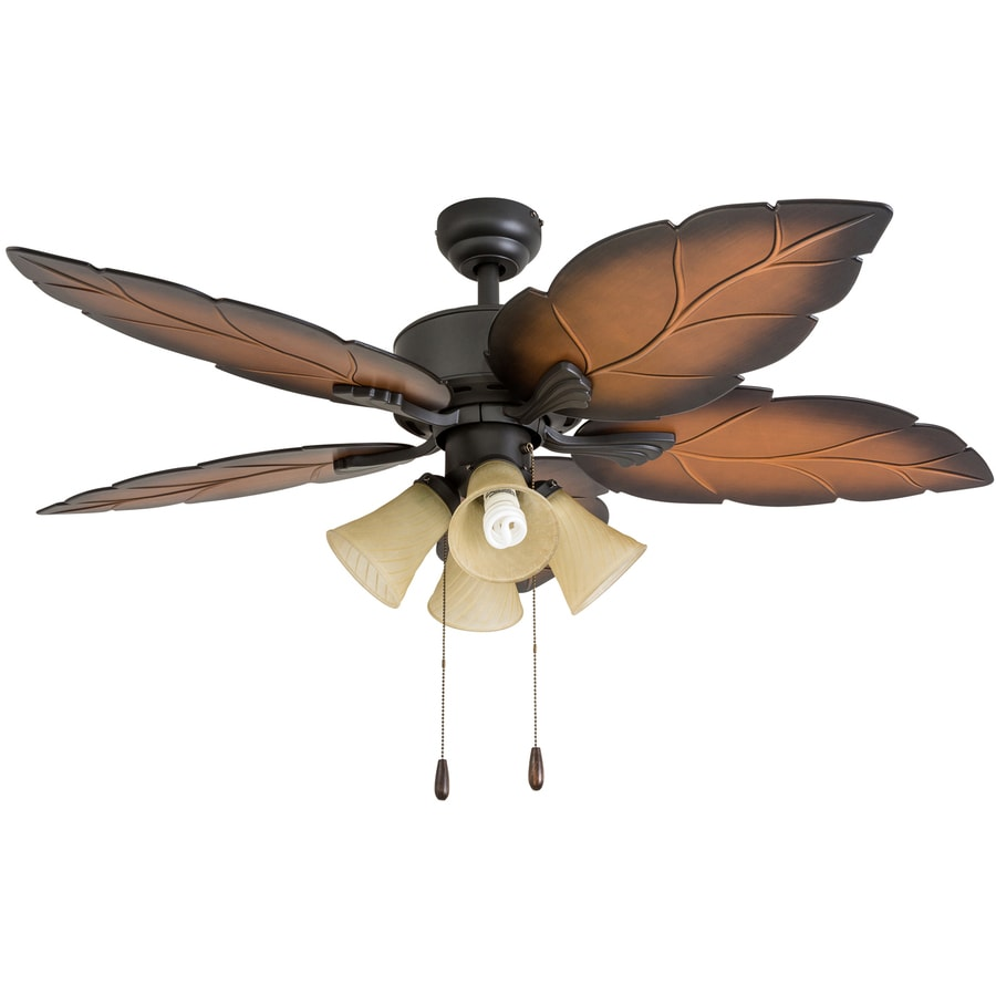 Lowes Tropical Outdoor Ceiling Fan: Palm Coast Tropics 52-in Tropical Bronze Indoor Ceiling