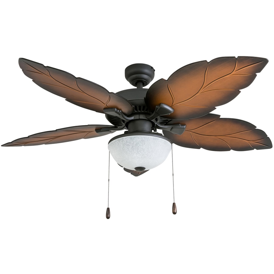 Tropical Outdoor Ceiling Fan: Palm Coast Bora-bora 52-in Tropical Bronze Indoor/Outdoor