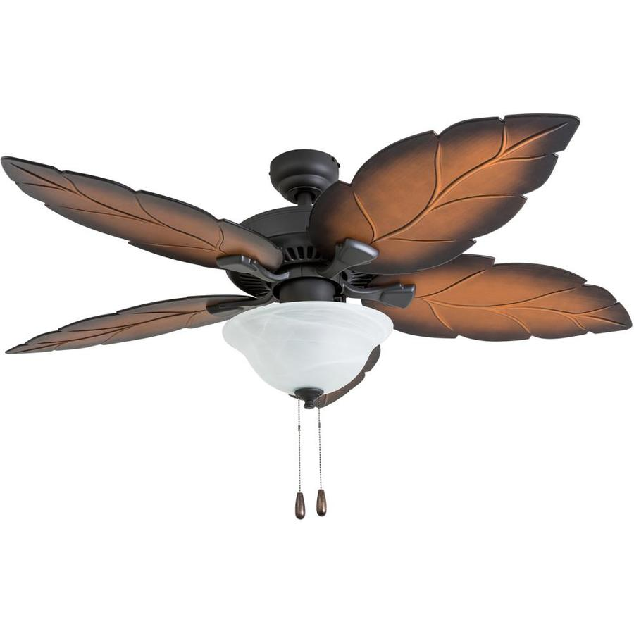 Tropical Ceiling Fans Lowes Ceiling Fan Remote Ceiling: Palm Coast Fort Walton 52-in Tropical Bronze LED Indoor