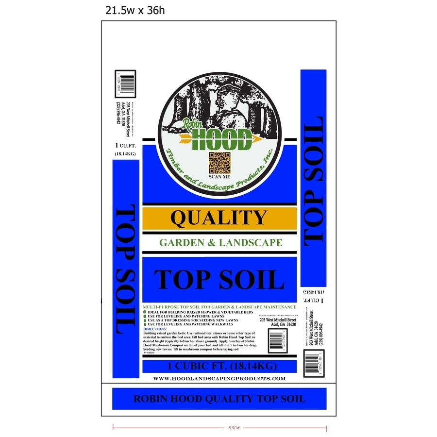 Robin Hood 1-cu ft Top Soil