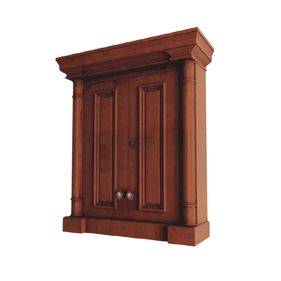 Shop Allen Roth 8 In D Cherry Bathroom Wall Cabinet At