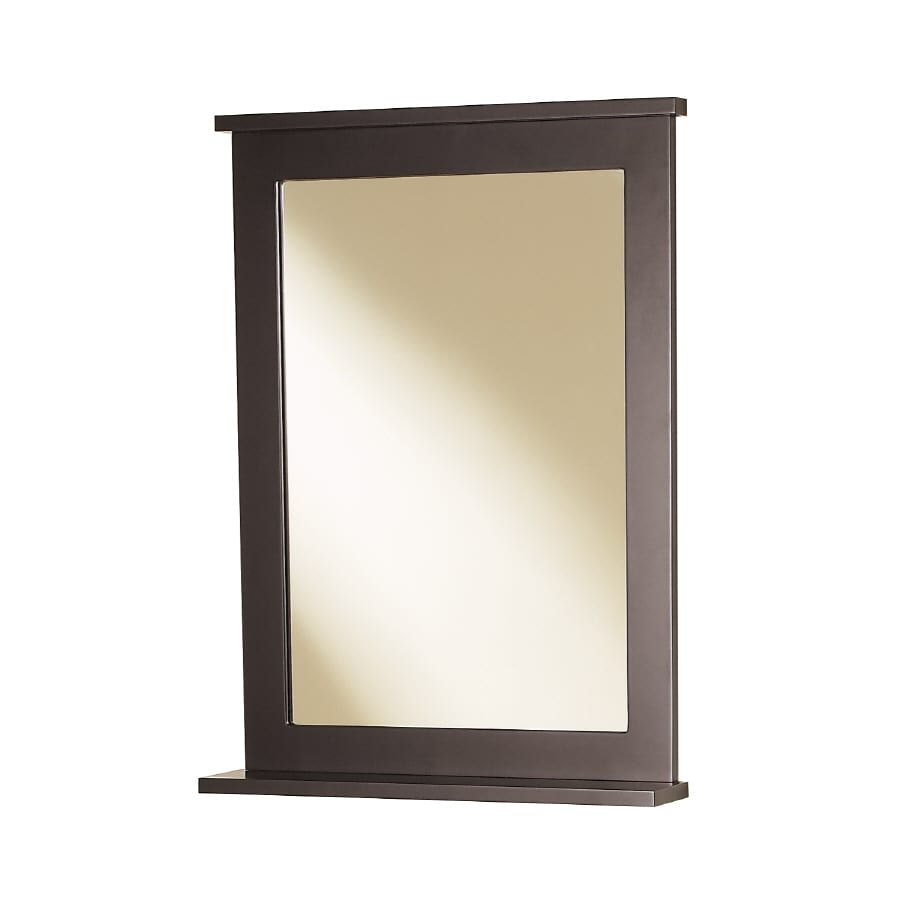 Magick Woods Stayton 22-in W x 30-in H Espresso Rectangular Bathroom Mirror
