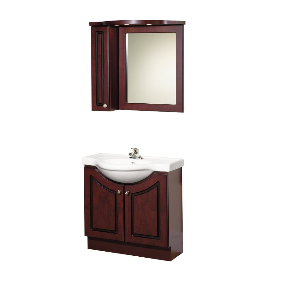 "Magick Woods 32"" Cherry Eurostone Bath Vanity with Top at ..."