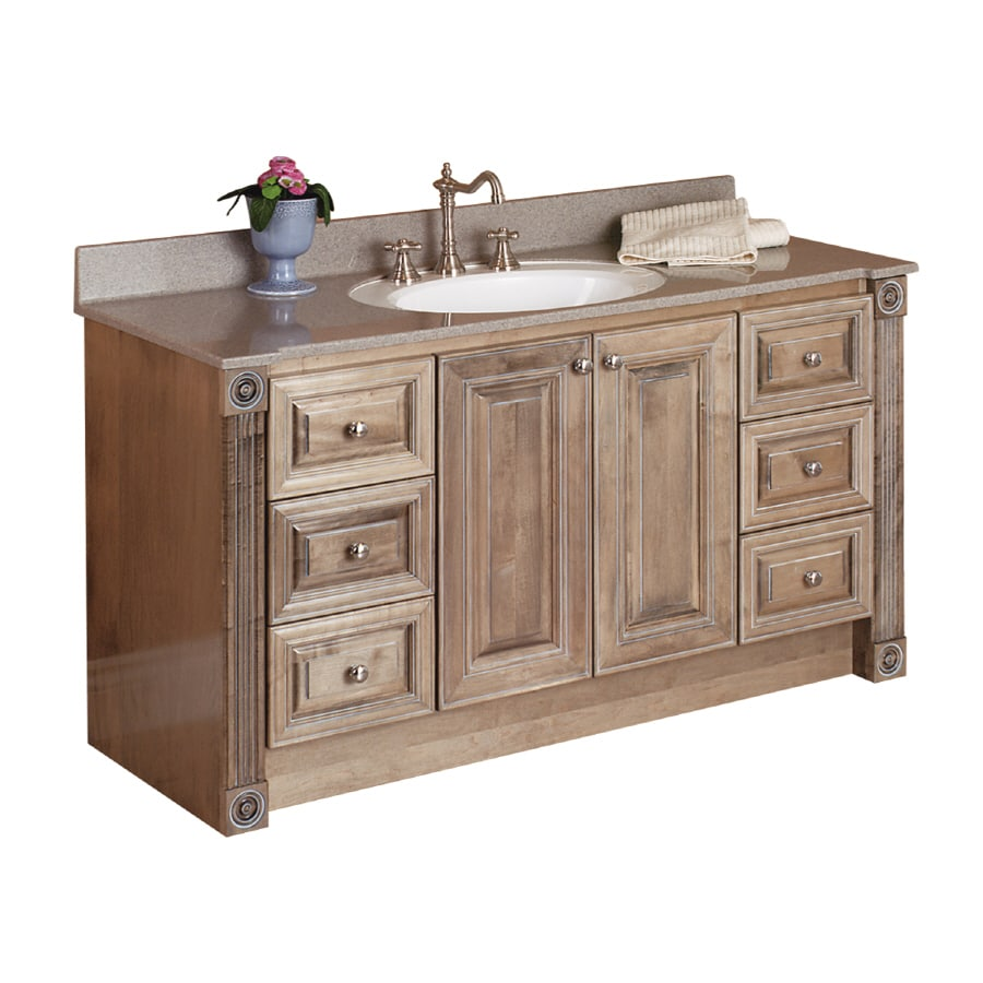 Shop Magick Woods 55 In W X 22 In D Duchess Cappuccino Single Sink Vanity Top At