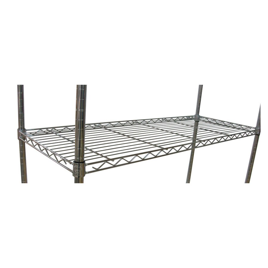 Style Selections 1.5-in H x 48-in W x 18-in D 1-Tier Steel Freestanding Shelving Unit