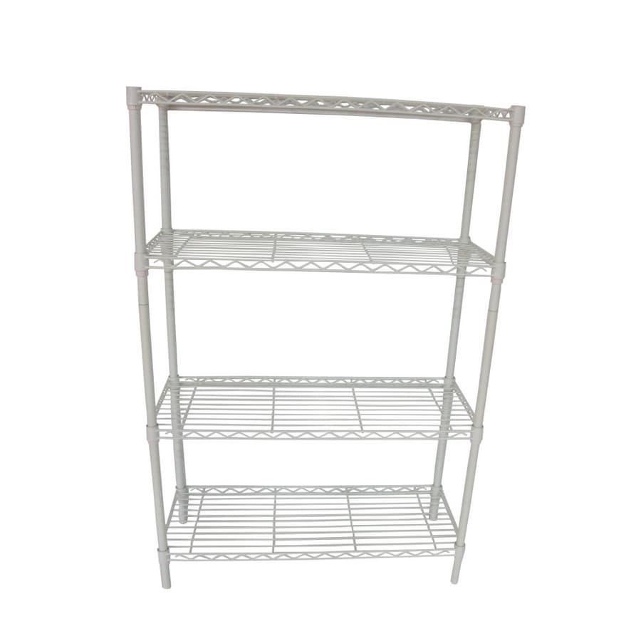 shelving units lowes shop style selections 54 in h x 36 in w x 14 in d 4 tier 26054