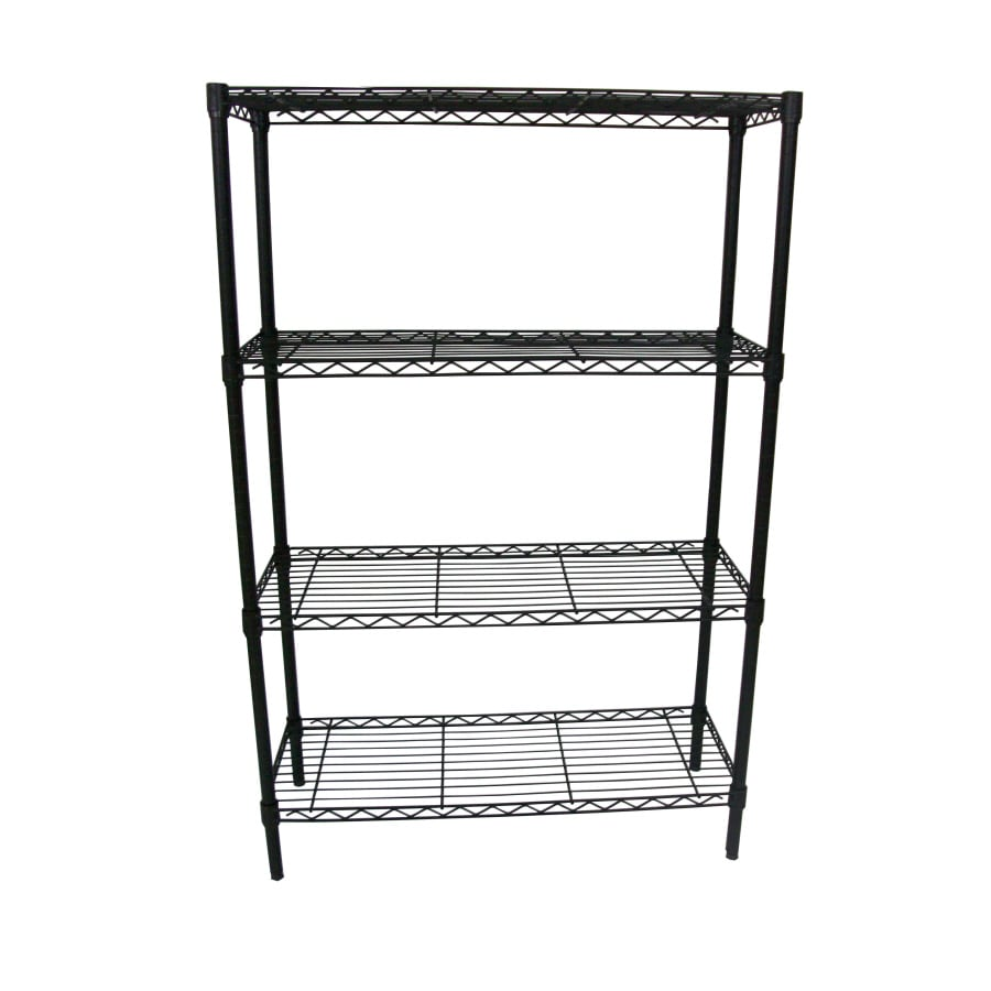 Shelving By Design® 4-Tier Black Shelf Rack