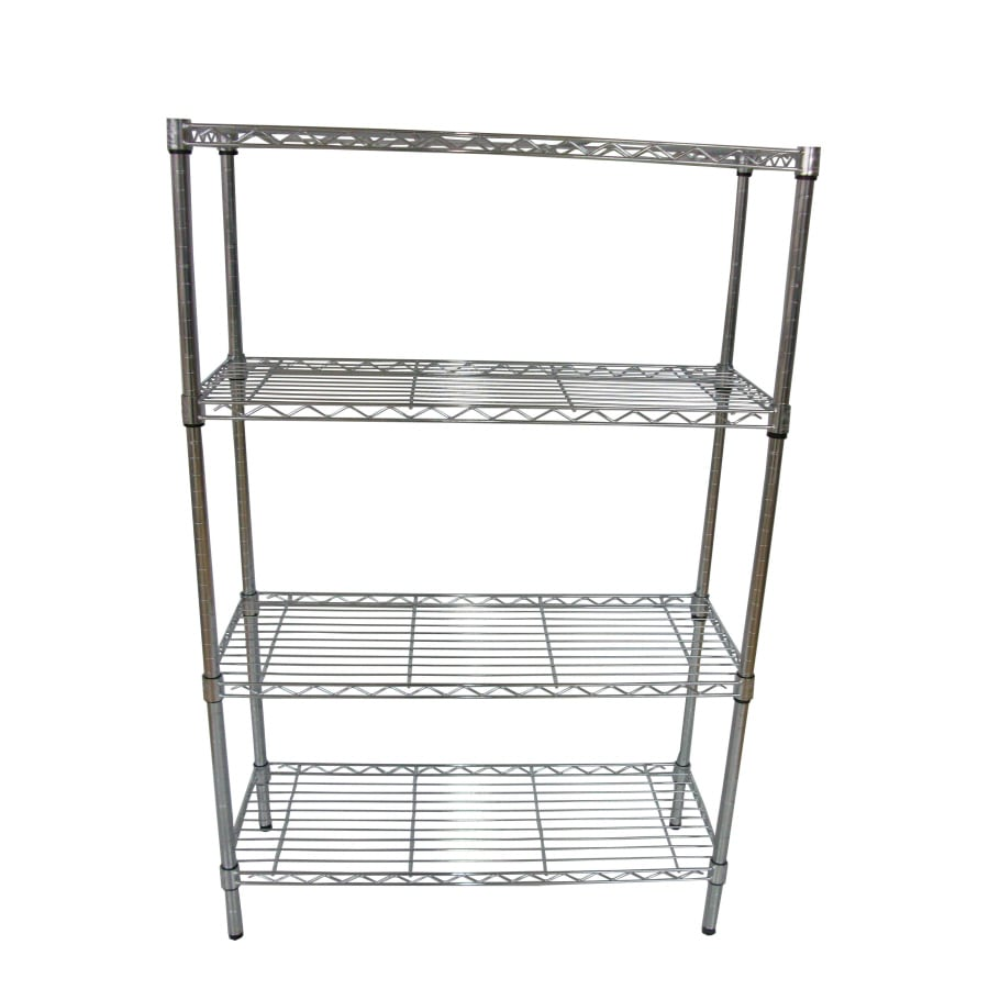 Shop Style Selections 54-in H x 36-in W x 14-in D 4-Tier Steel ...