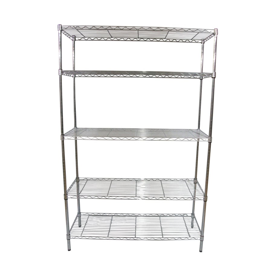 shelving units lowes shop style selections 74 in h x 48 in w x 18 in d 5 tier 26054