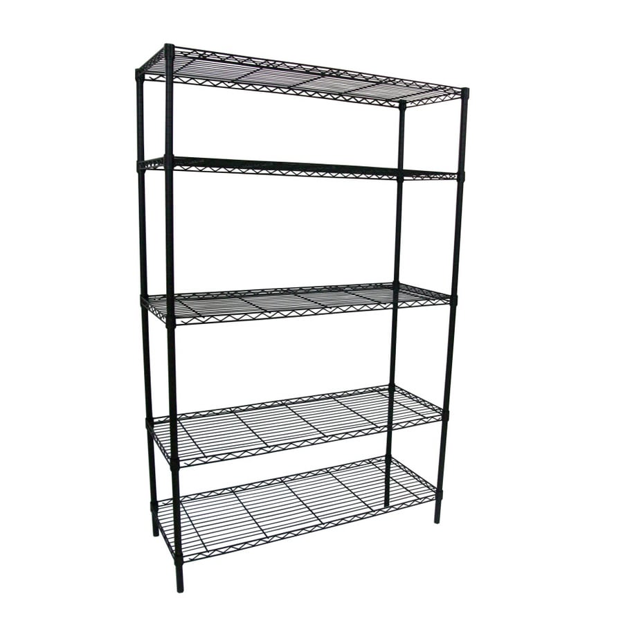 Wire Storage Shelves | Style Selections 74 In H X 48 In W X 18 In D 5 Tier Steel