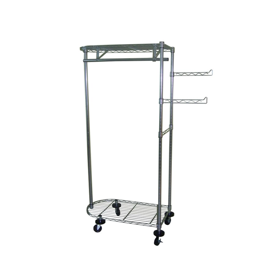Shop Real Organized 64w Wire Garment Rack At Lowescom