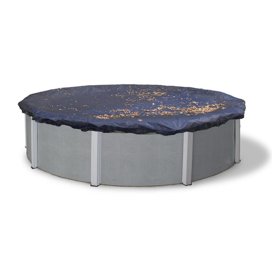 Blue Wave 31-ft x 31-ft Polyethylene Leaf and Debris Pool Cover