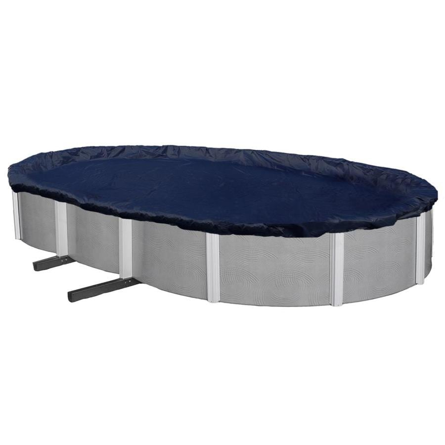 Blue Wave 28-ft x 16-ft Bronze Polyethylene Winter Pool Cover
