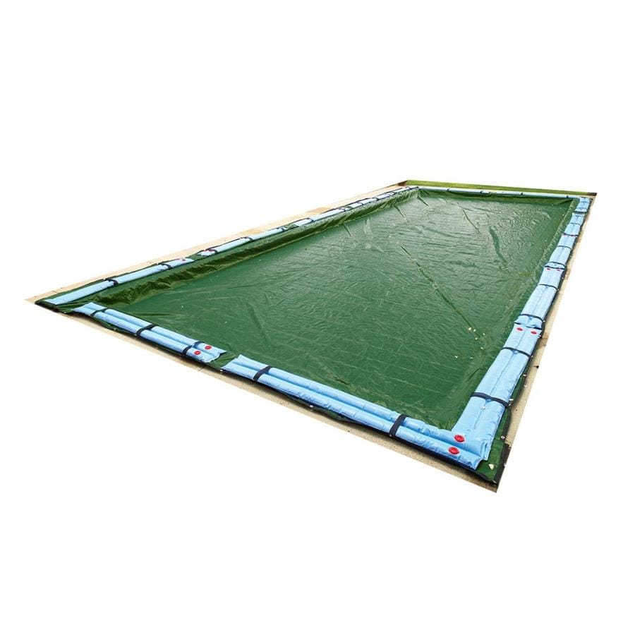 Blue Wave 45-ft x 25-ft Silver Polyethylene Winter Pool Cover