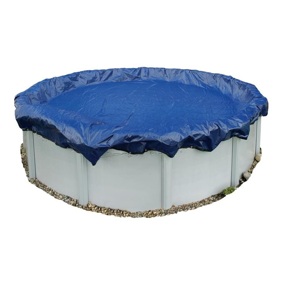 Blue Wave 19-ft x 19-ft Gold Polyethylene Winter Pool Cover