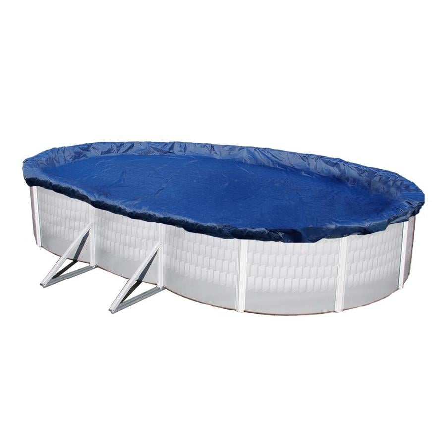 Blue Wave 28-ft x 16-ft Gold Polyethylene Winter Pool Cover