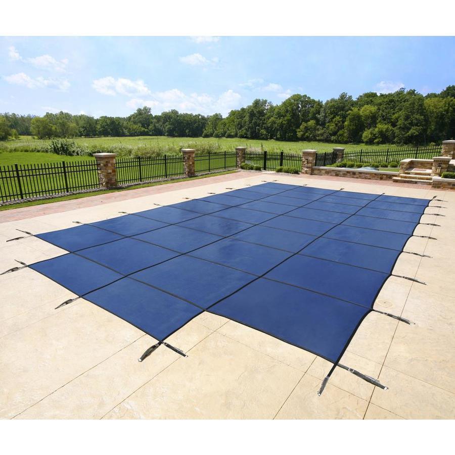 Shop blue wave 18 ft x 34 ft polypropylene safety pool for 18 ft garden pool