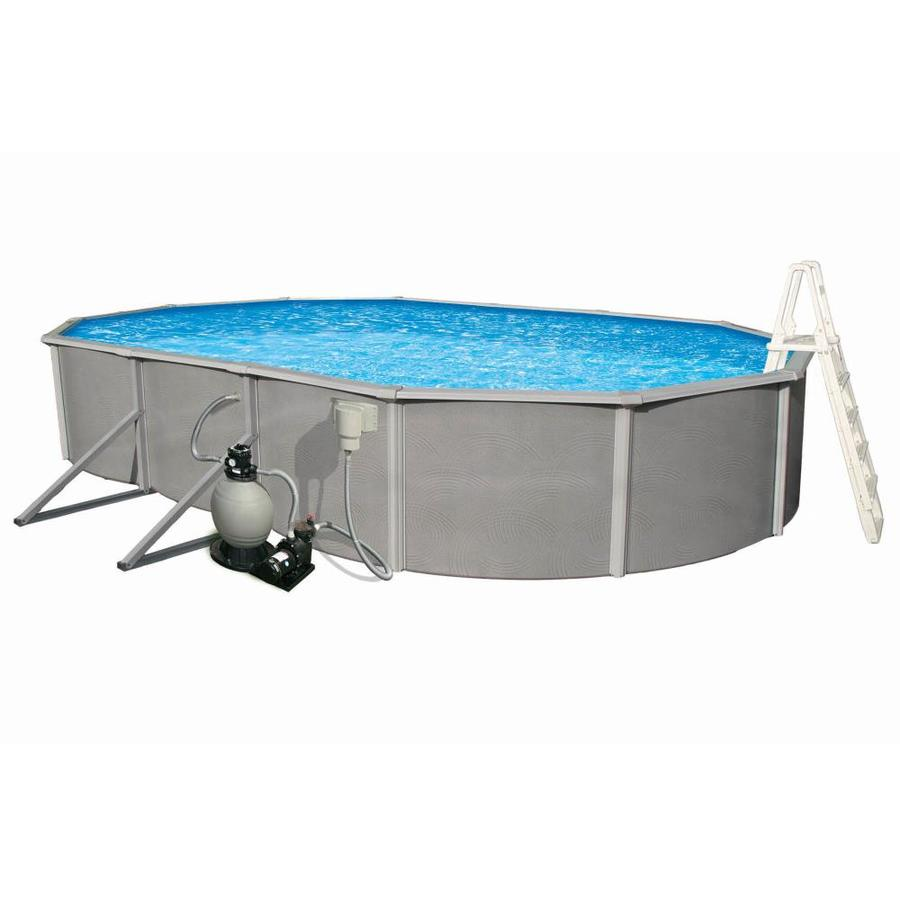 Blue Wave Belize 24-ft x 12-ft x 48-in Oval Above-Ground Pool