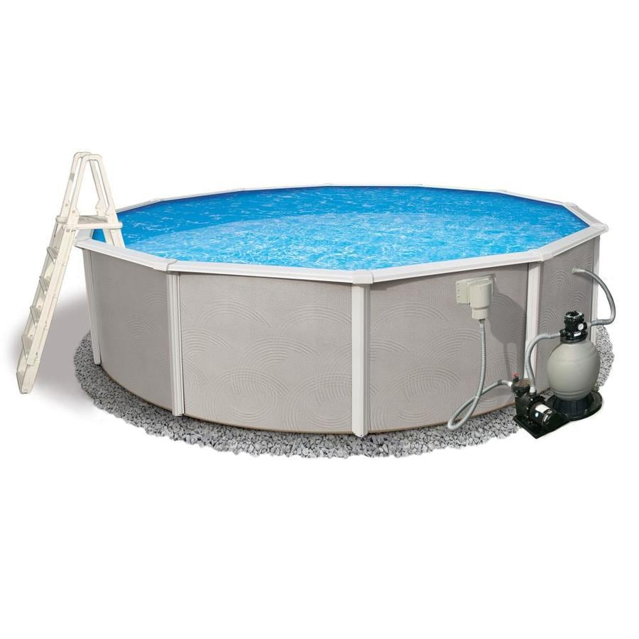 Blue Wave Belize 27-ft x 27-ft x 52-in Round Above-Ground Pool