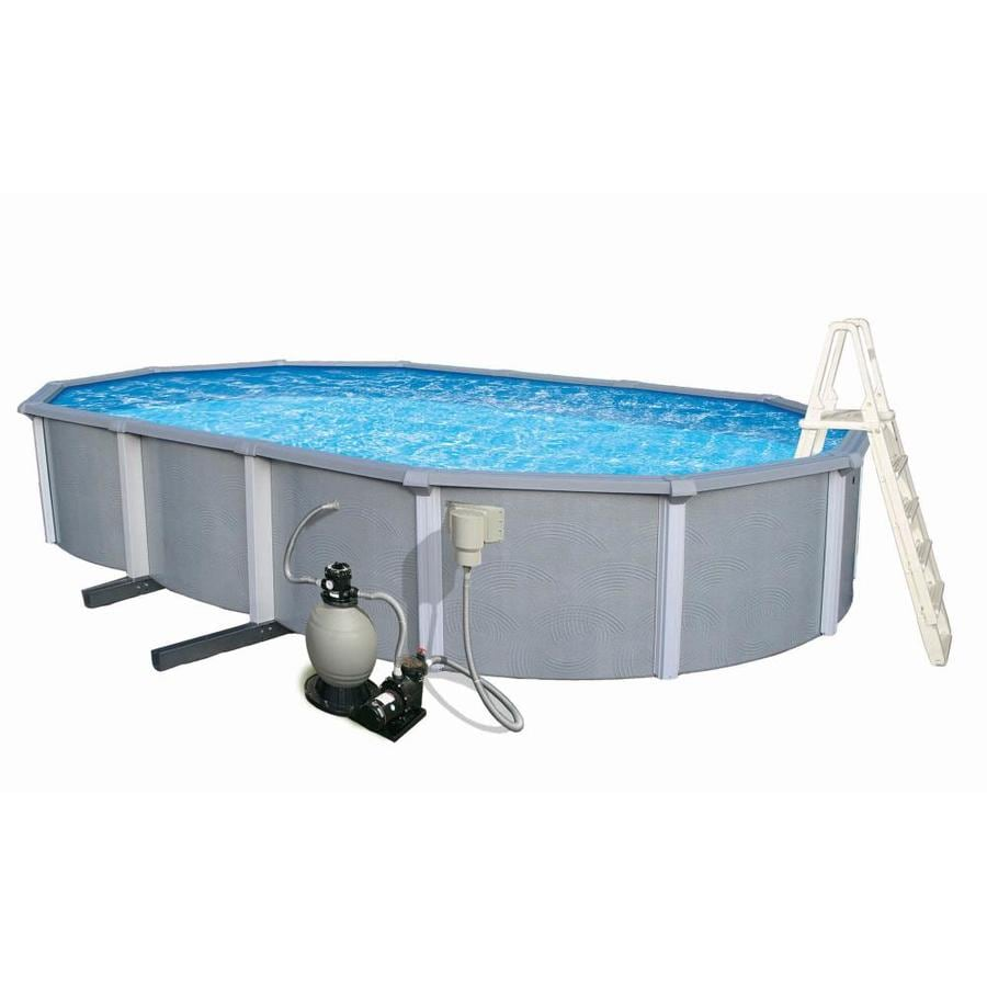 Blue Wave Zanzibar 33-ft x 18-ft x 54-in Oval Above-Ground Pool