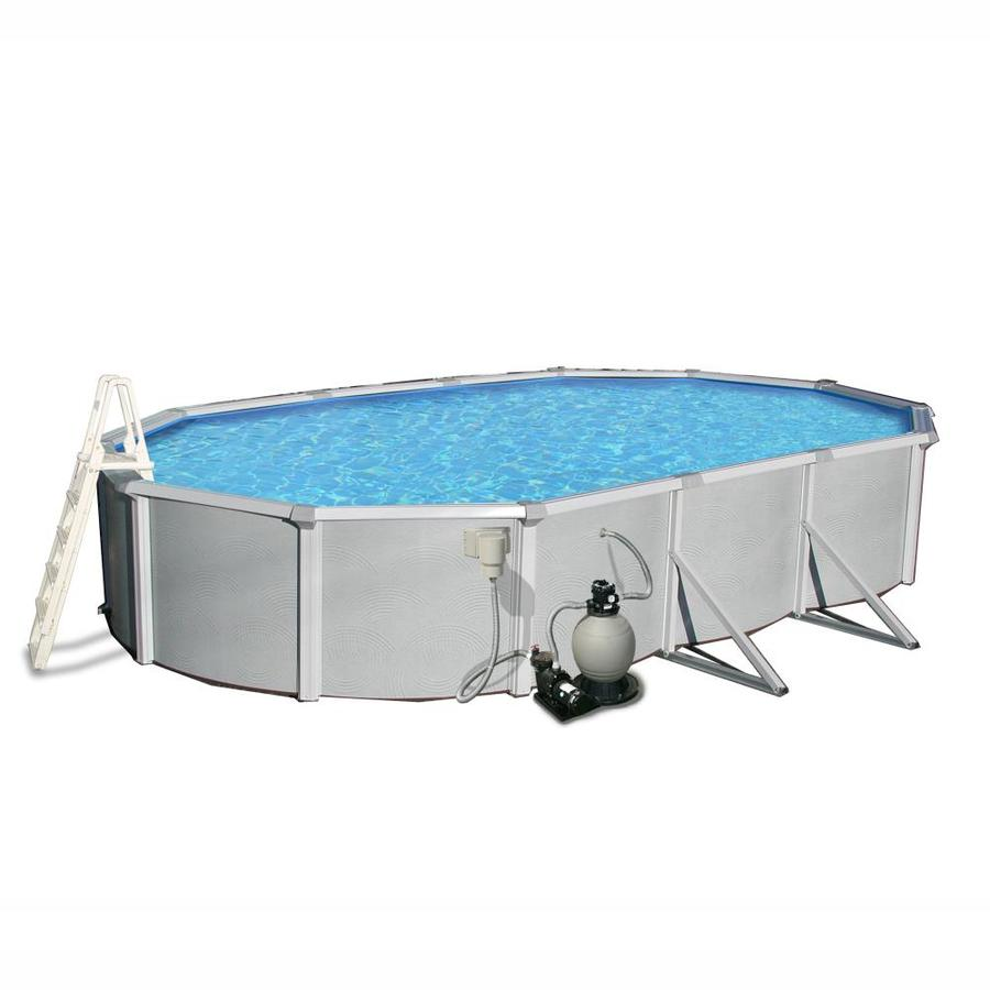 Blue Wave Samoan 33-ft x 18-ft x 52-in Oval Above-Ground Pool