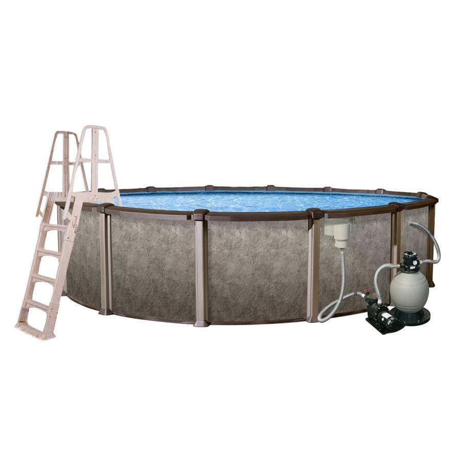 Blue Wave Riviera 27-ft x 27-ft x 54-in Round Above-Ground Pool