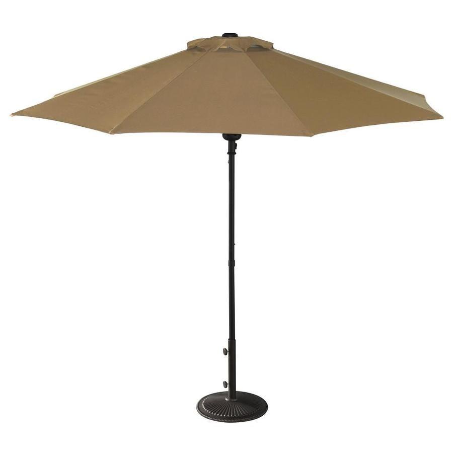 Island Umbrella Cabo Stone Market Patio Umbrella (Common: 9-ft W x 9-ft L; Actual: 9-ft W x 9-ft L)