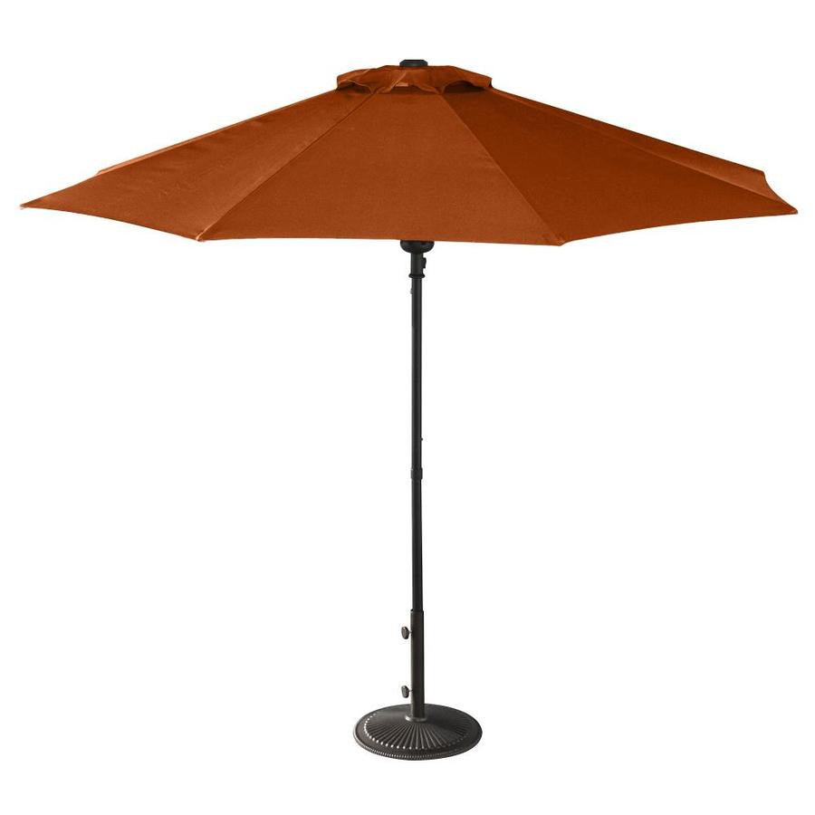 Shop island umbrella cabo terra cotta market 9 ft patio for Balcony umbrella