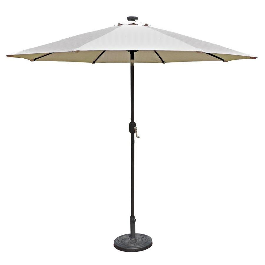 Island Umbrella Mirage Champagne Market Patio Umbrella (Common: 9-ft W x 9-ft L; Actual: 8.75-ft W x 8.75-ft L)