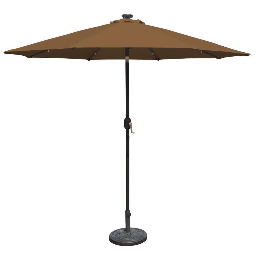 Island Umbrella Mirage Stone Market Patio Umbrella (Common: 9-ft W x 9-ft L; Actual: 8.75-ft W x 8.75-ft L)