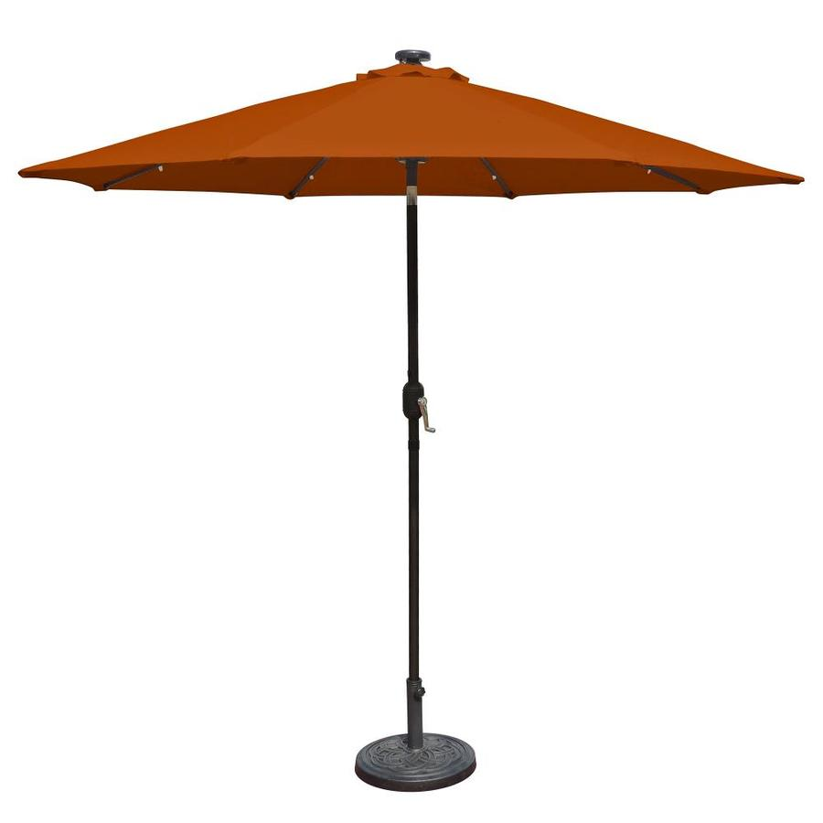 Island Umbrella Mirage Terra Cotta Market Patio Umbrella (Common: 9-ft W x 9-ft L; Actual: 8.75-ft W x 8.75-ft L)