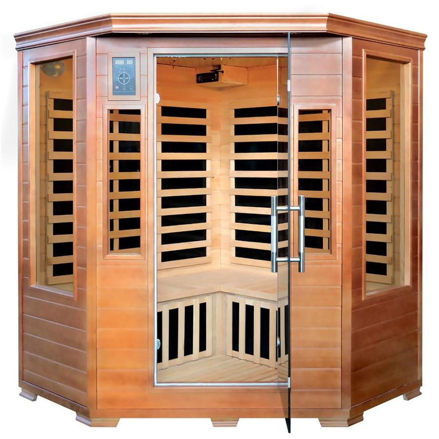 Majestic 75-in H x 55-in W x 55-in D Hemlock Fir Wood Sauna