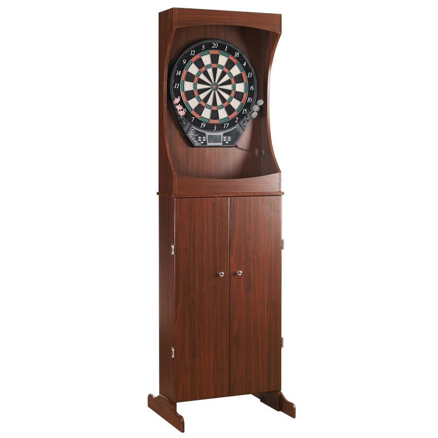 Hathaway Outlaw 24-in Brown Composite Dartboard Cabinet with Dartboard