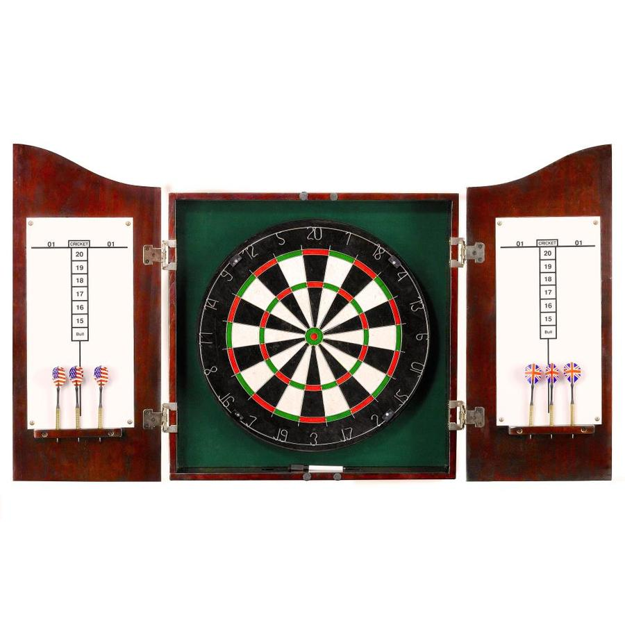 Hathaway Centerpoint 25.5 In Black Composite Dartboard Cabinet With  Dartboard