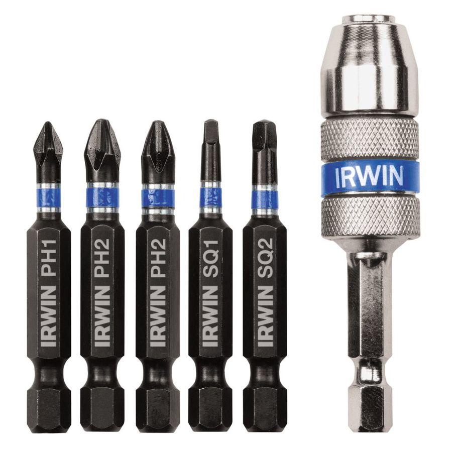 Shop Irwin 6 Piece Impact Driver Bit Set At Lowes Com