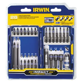 IRWIN 26-Piece Impact Driver Bit Set