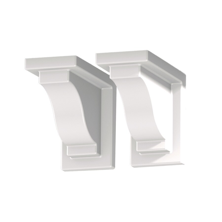 Mayne 2-Pack 8-in Plastic Window Box Brackets