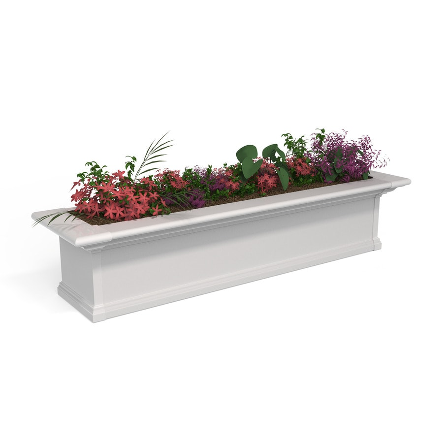 Mayne 48-in x 10-in White PVC Vinyl Hanging Self Watering Window Box