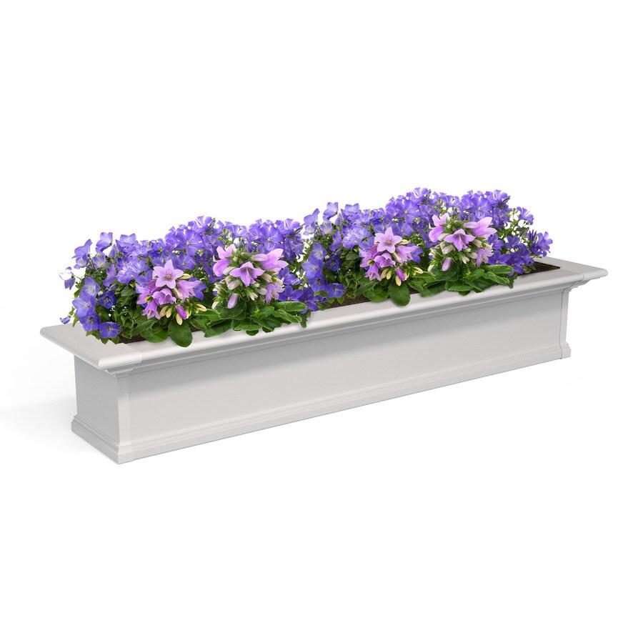 Mayne 60-in x 10-in White PVC Vinyl Hanging Self Watering Window Box