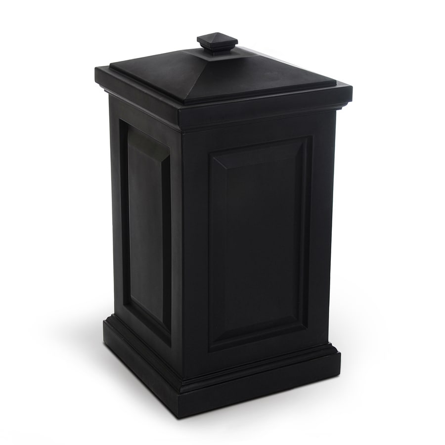 Shop Mayne Berkshire 45 Gallon Black Plastic Outdoor Trash Can With Lid At Lo